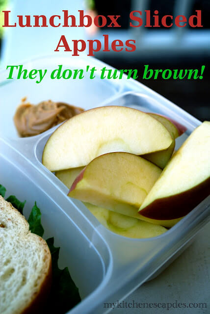 Lunchbox Sliced Apples