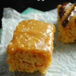 Salted Caramel Rice Crispy Treats
