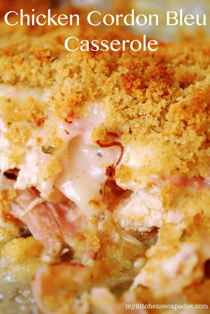 Chicken Cordon Bleu Casserole The Best Easy Chicken Recipe