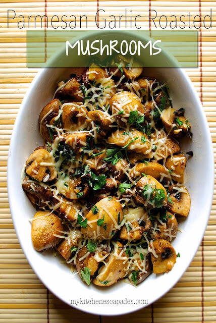 Parmesan Garlic Roasted Mushrooms