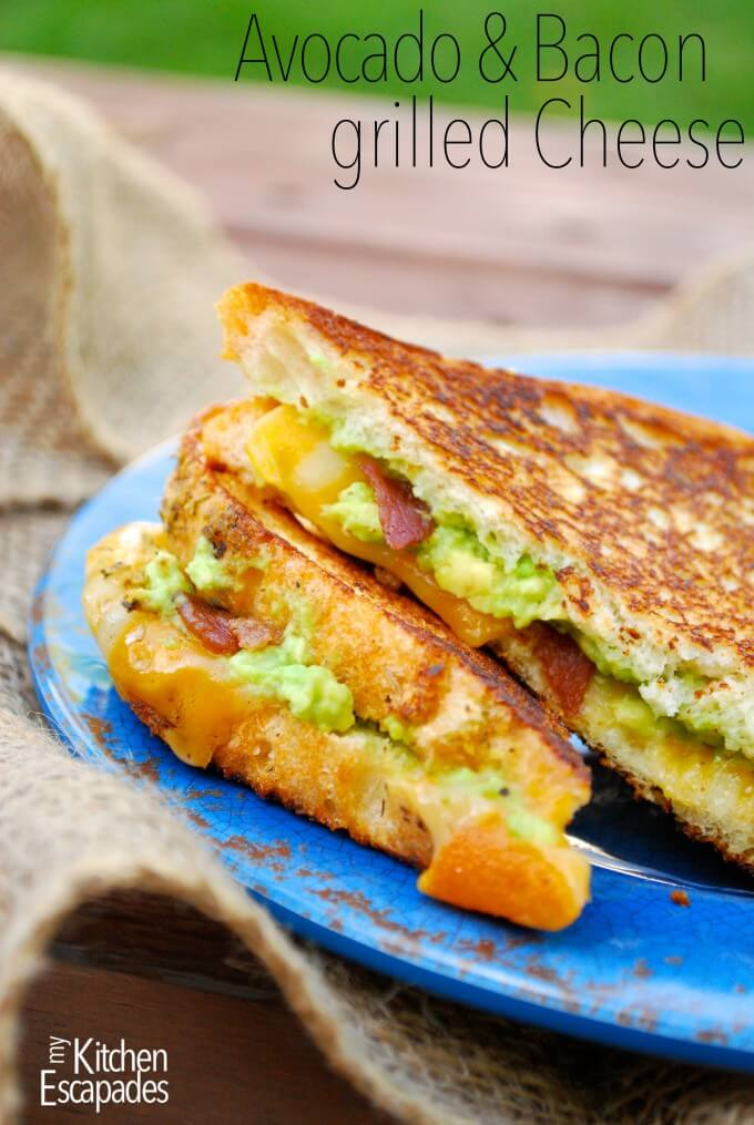 Avocado and Bacon Grilled Cheese