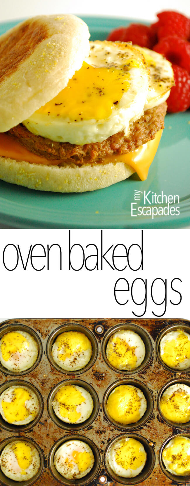 Freezer Breakfast Sandwich With Oven Baked Eggs