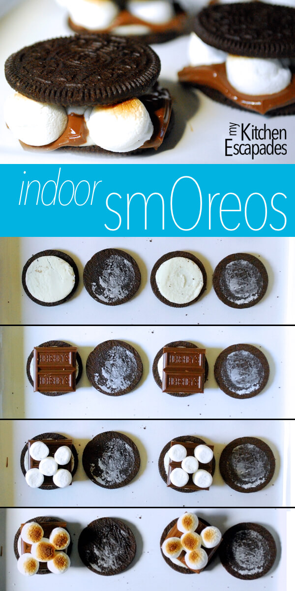 Amazing s'mores made with Oreos and no camping required for this recipe!