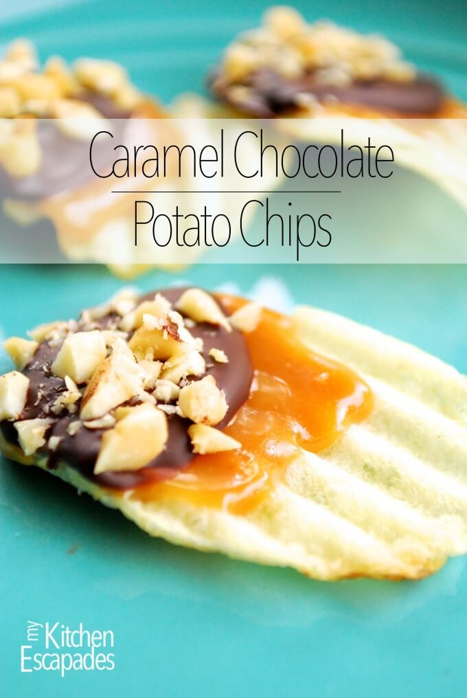 Caramel Chocolate Covered Potato Chips