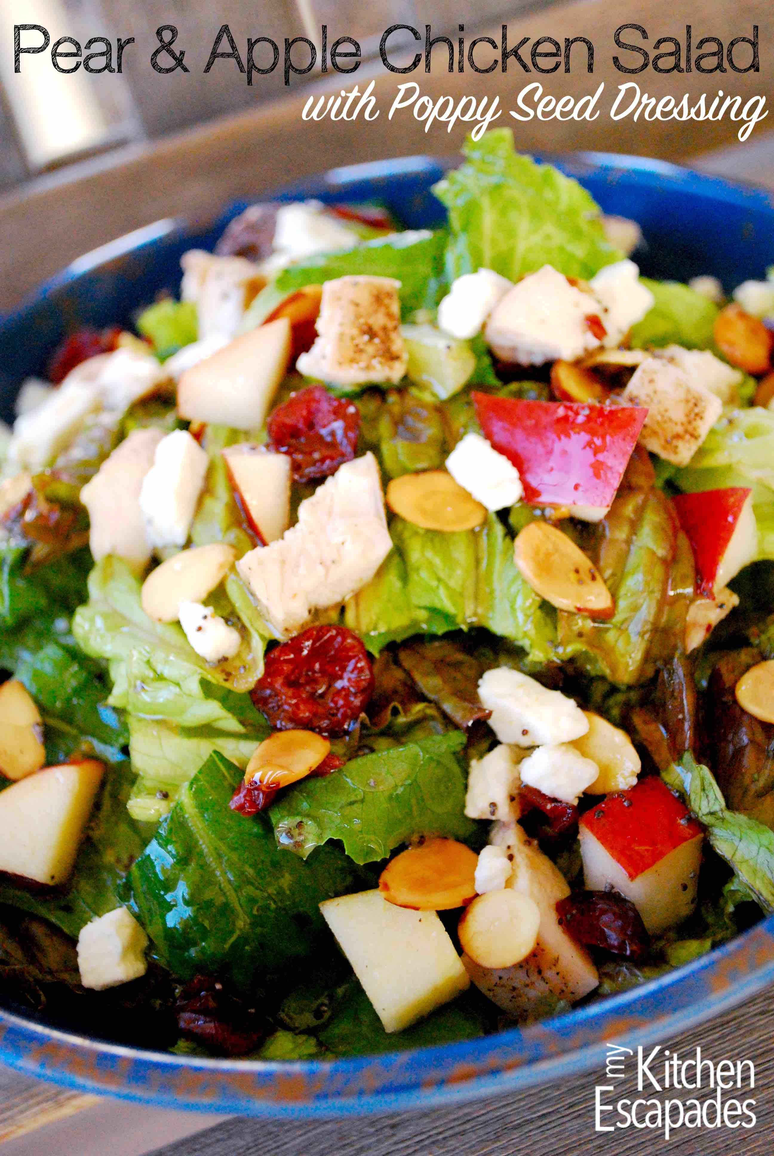 Pear Apple Chicken Salad & Poppy Seed Dressing