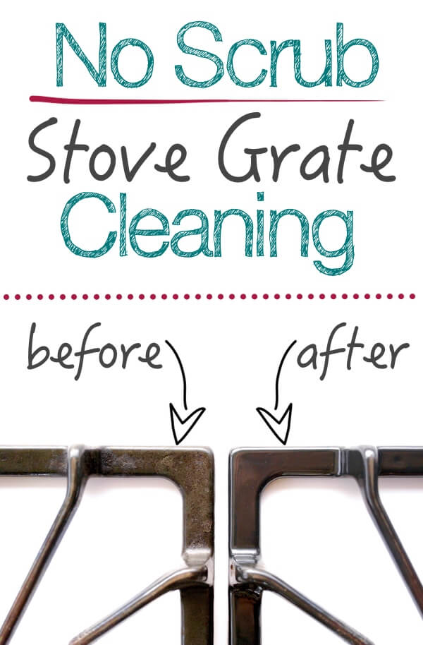 how to clean stove grates without scrubbing clean gas stove