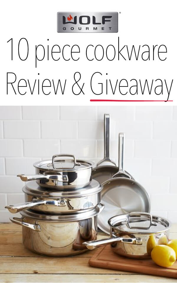 Wolf Gourmet 10 Piece Cookware Set review and giveaway