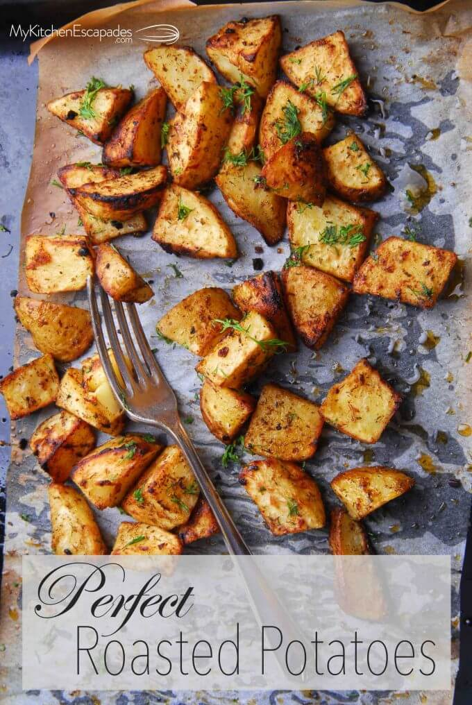 Oven Roasted Potatoes - how to roast potatoes