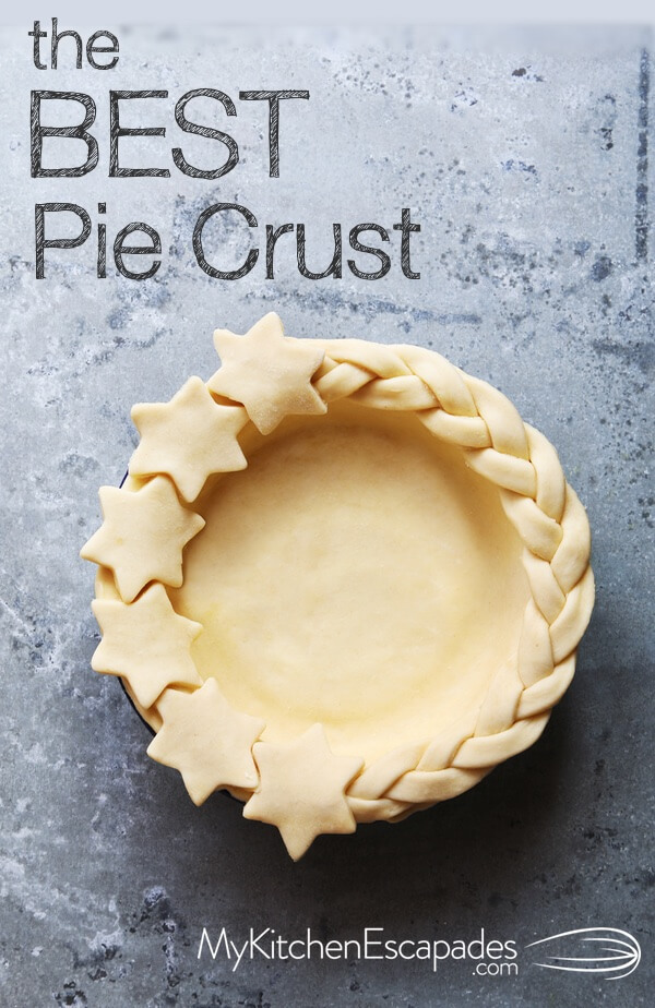 homemade pie crust with shortening and butter - flaky every time