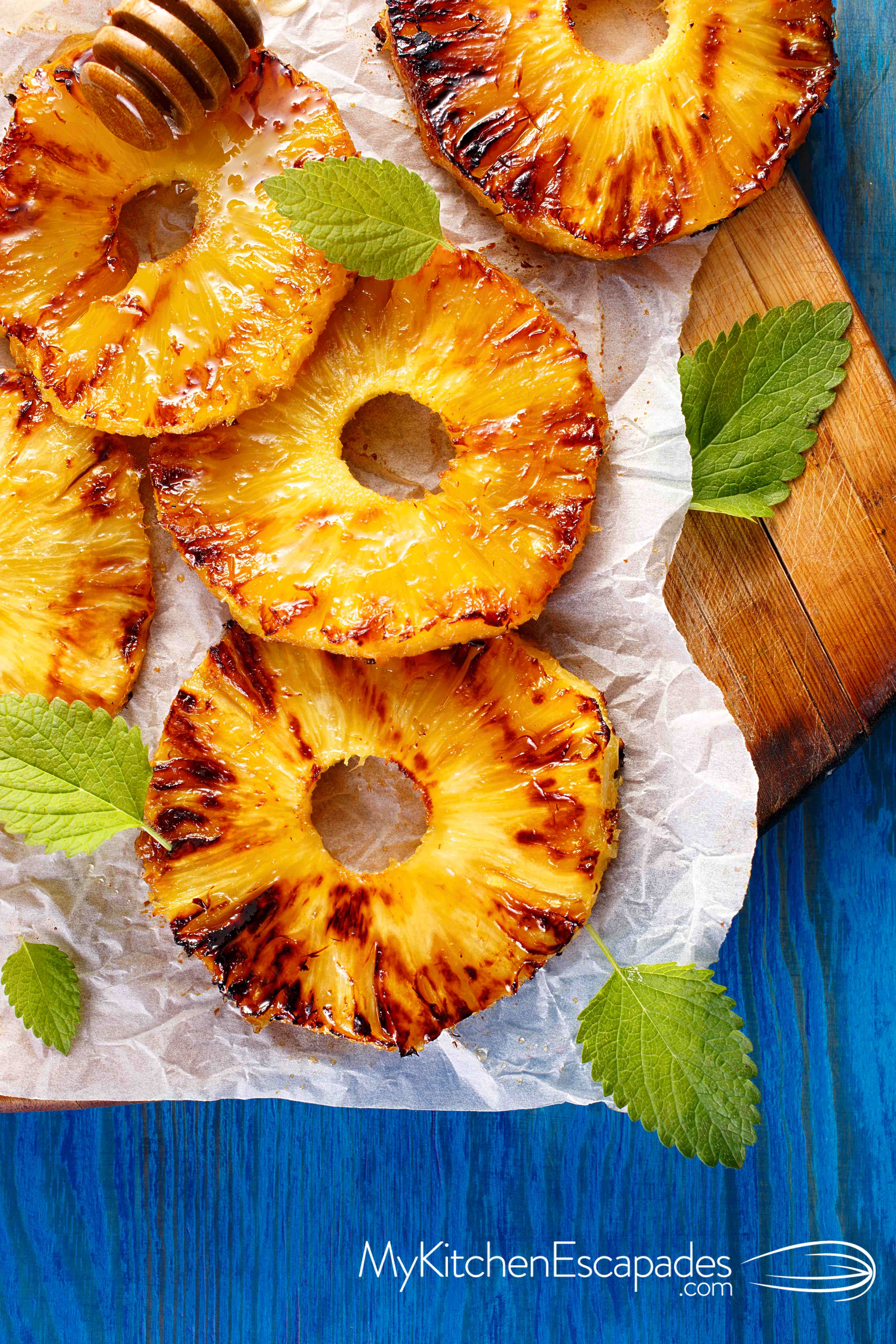 Grilled Pineapple with Honey Drizzle