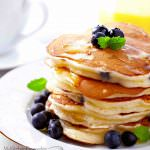 Stack of homemade pancakes