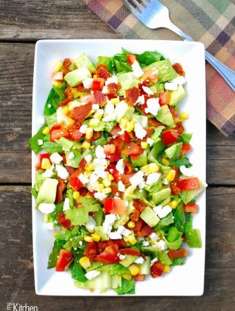 Avocado Feta BLT salad