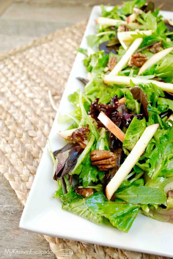 Apple Salad recipe with candied pecans