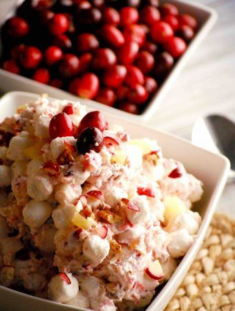 Cranberry Salad Recipe with marshmallows and whipped cream
