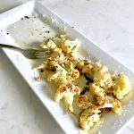Oven Roasted Cauliflower with garlic and parmesan cheese
