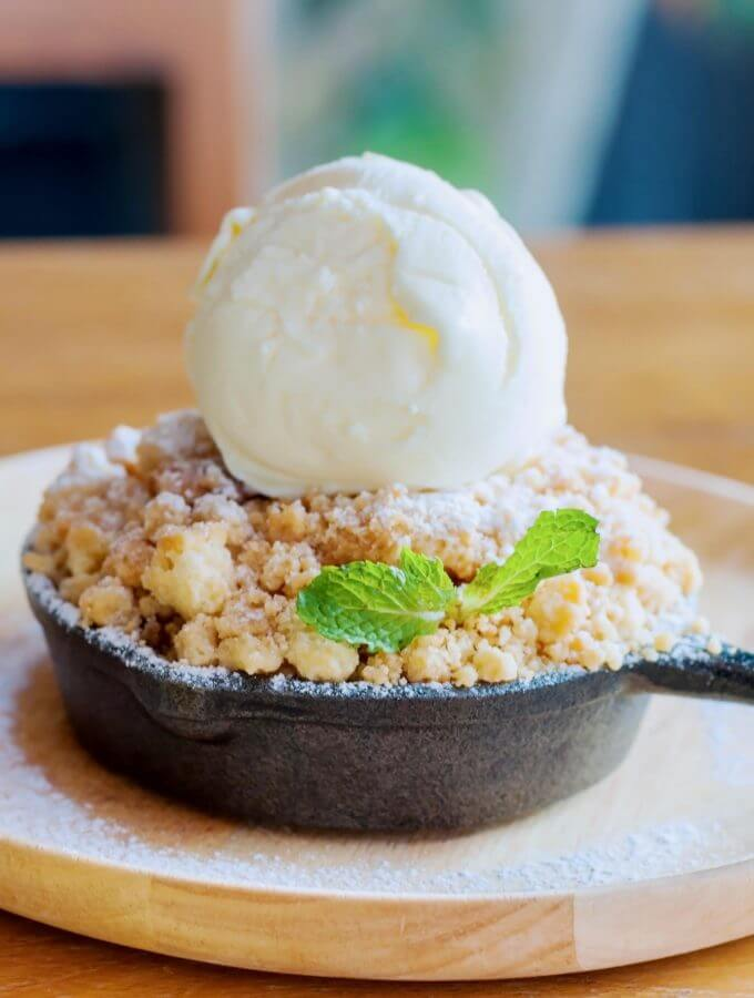 easy apple crisp recipe with oatmeal