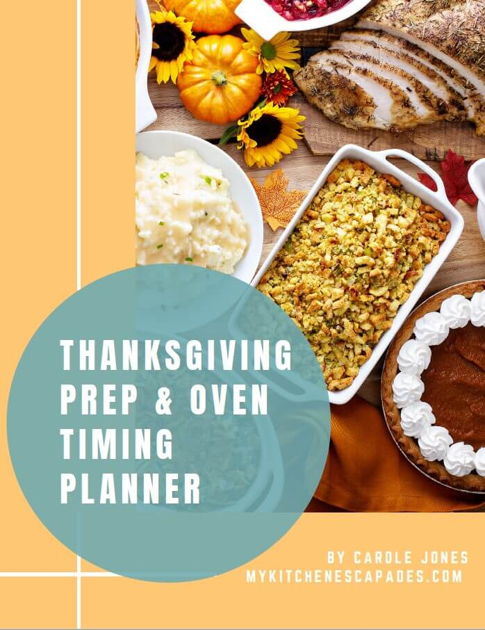 Free Thanksgiving Cooking Schedule