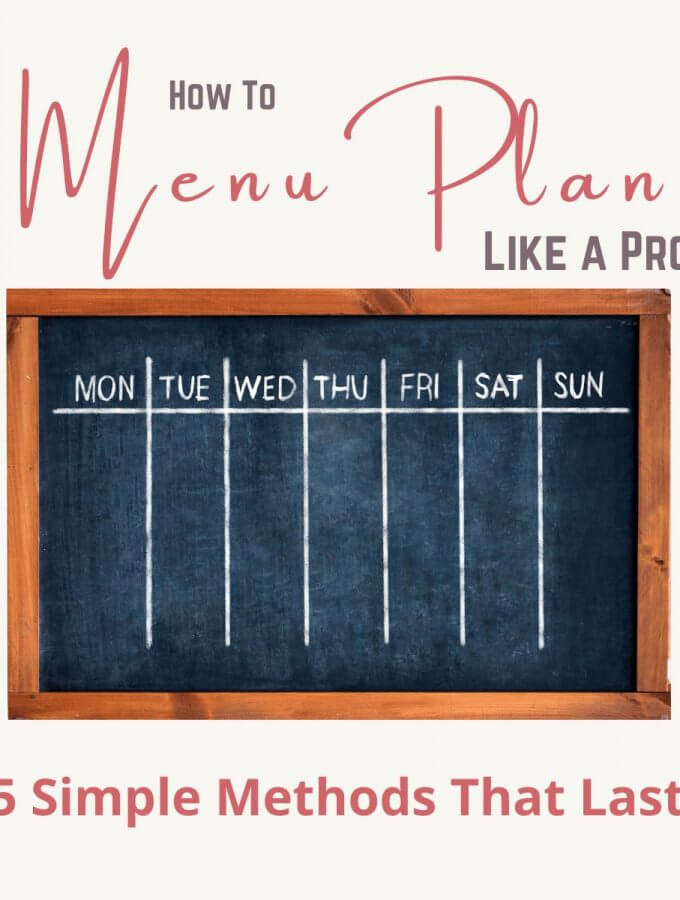how to menu plan
