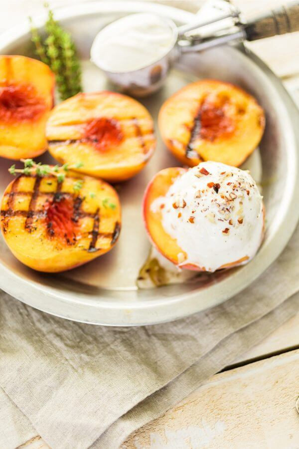 healthy grilled peaches