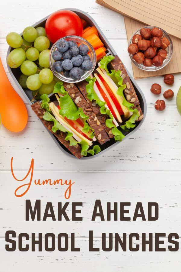 make ahead school lunches